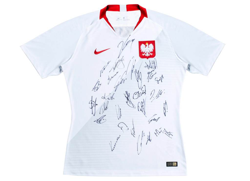 Koszulka Reprezentacji Polski z autografami