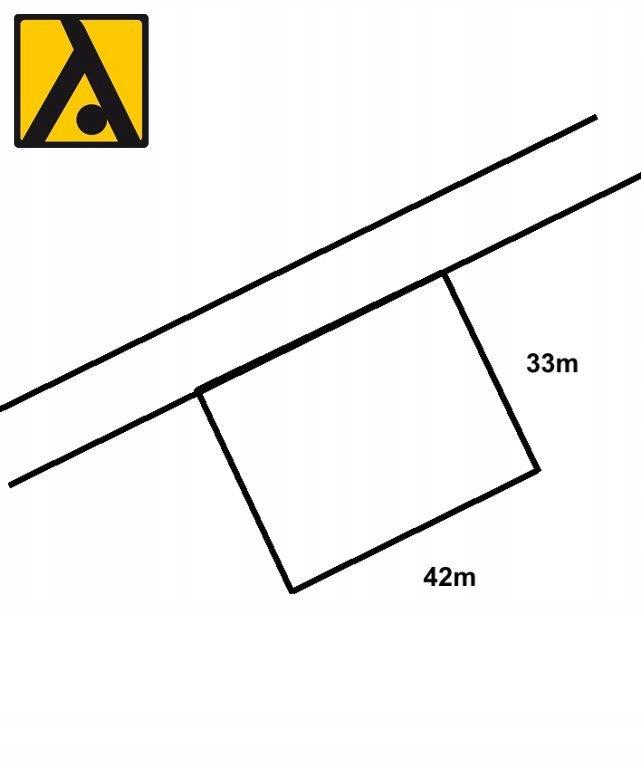 Działka, Papowo Toruńskie, Łysomice (gm.), 1400 m²