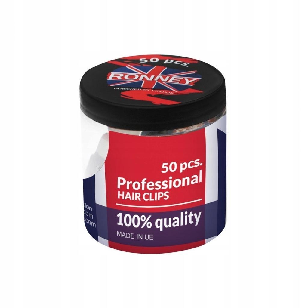 RONNEY Profesjonalne klipsy fryzjerskie 50 szt (85