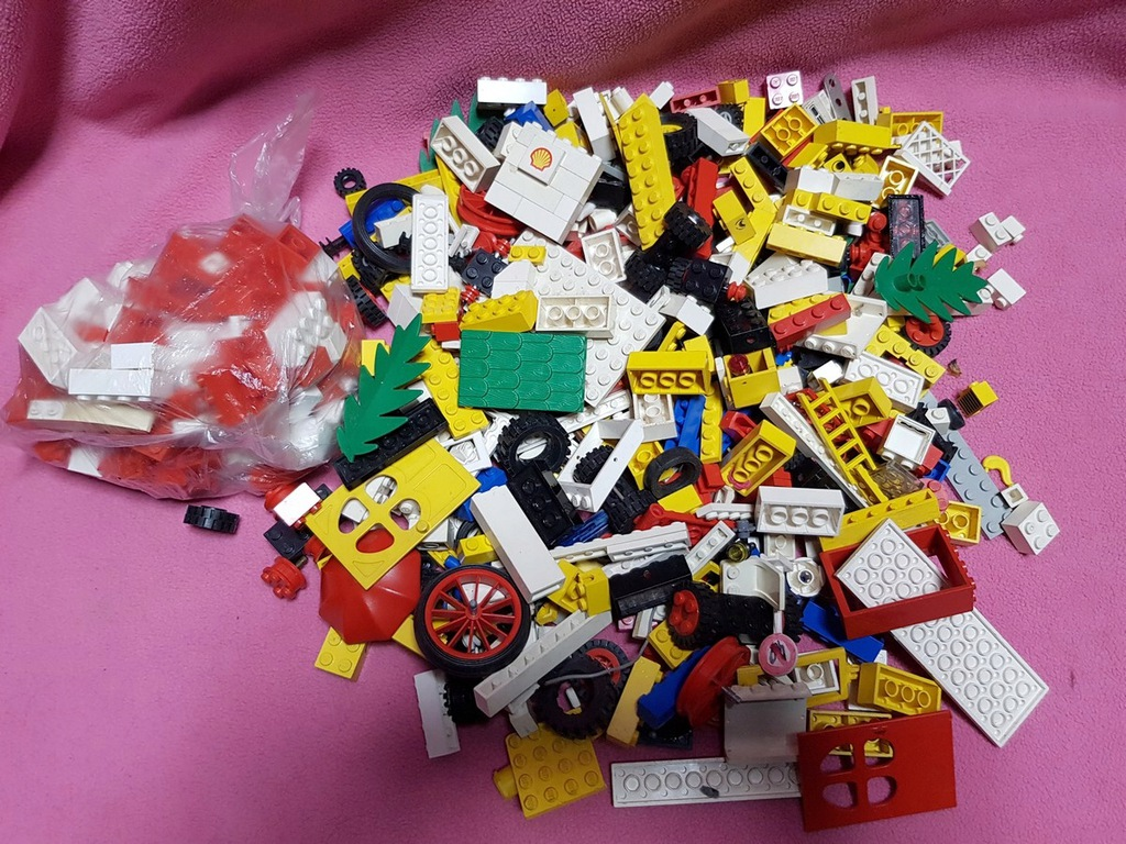 klocki LEGO mix ok. 1 kg lata 70 80