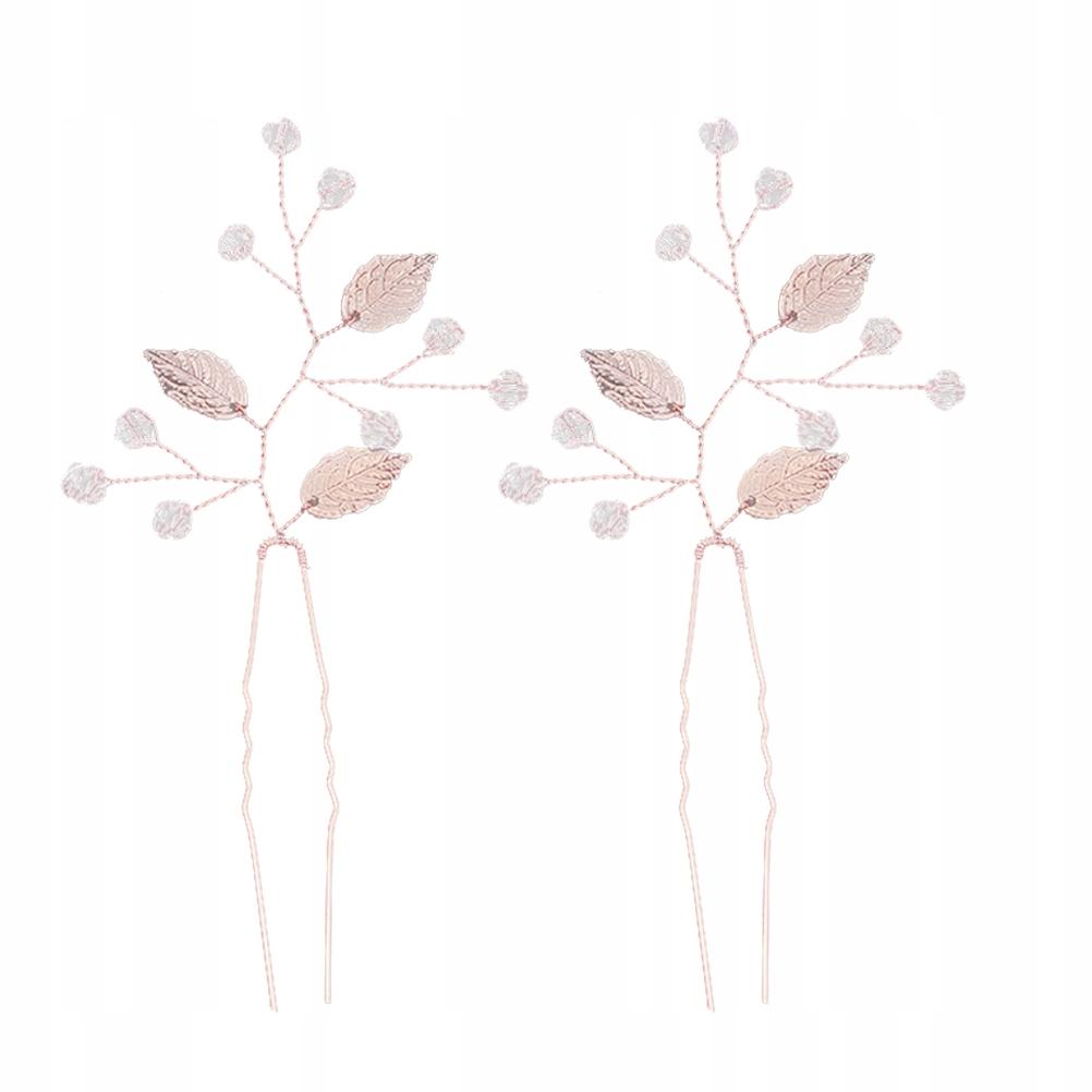 2szt Ręcznie wykonane ze stopu liście Spinki do wł