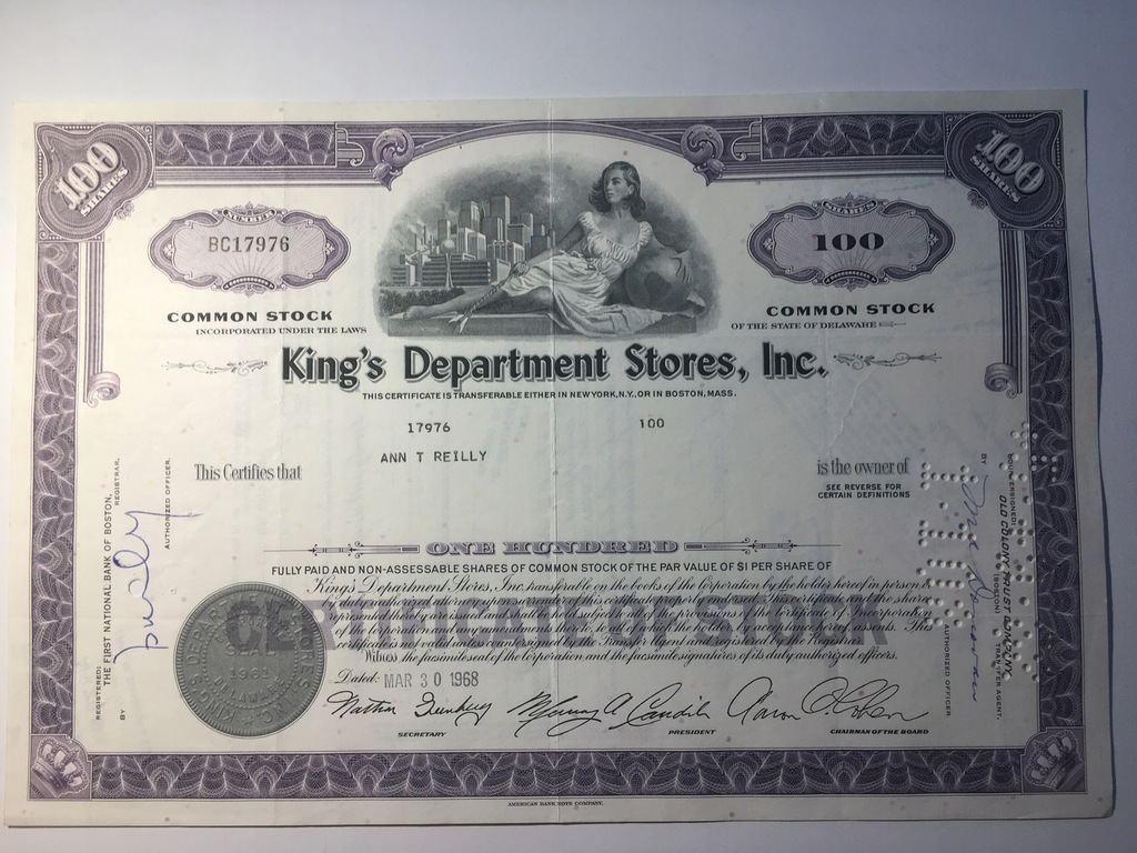 KING'S DEPARTMENT STORES, INC