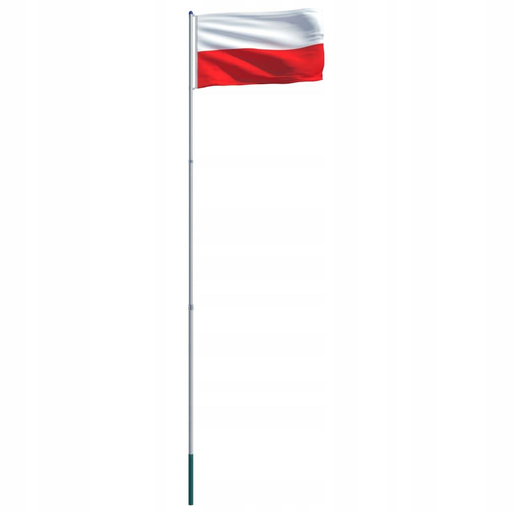 Flaga Polski VidaXL z aluminiowym masztem 6 m