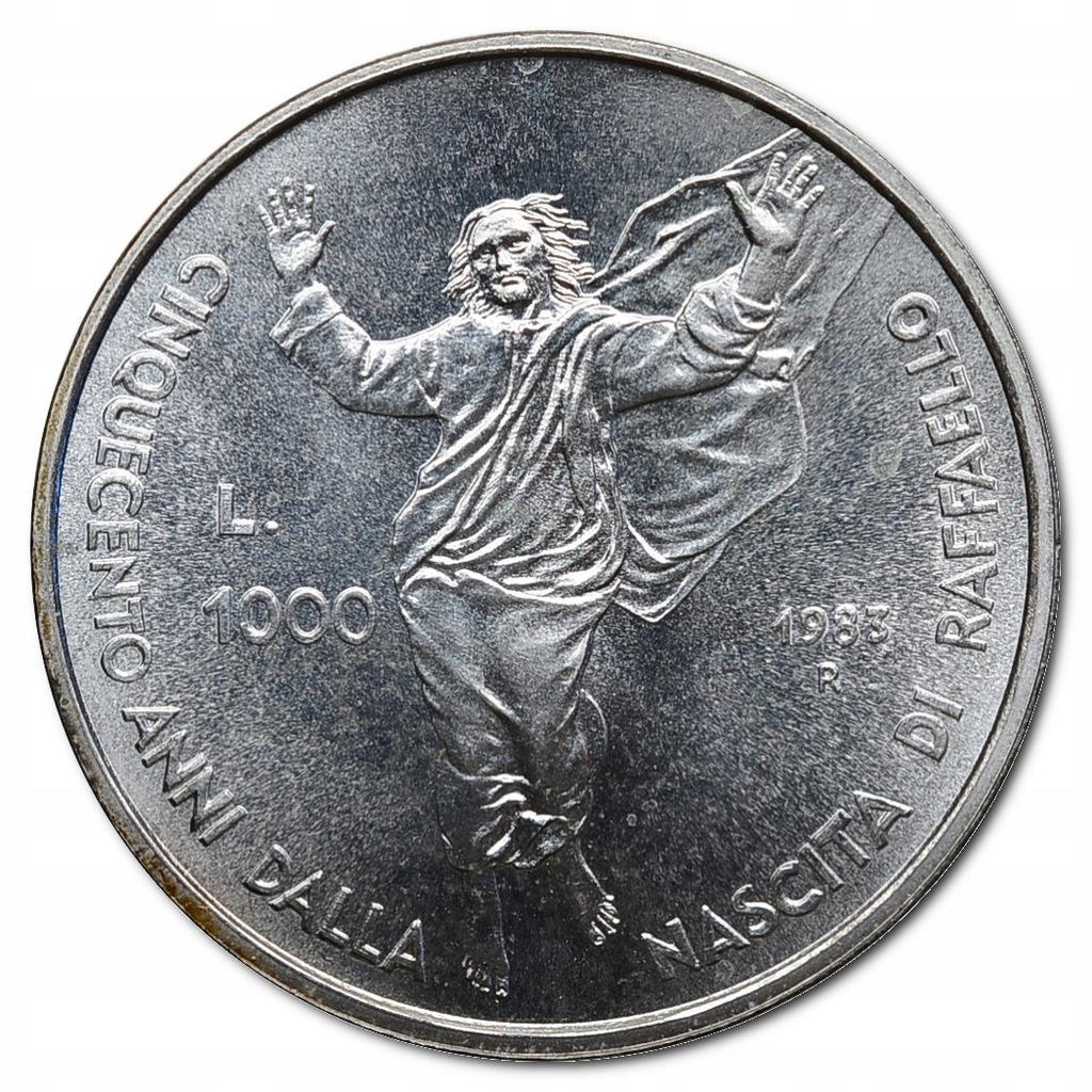 71.SAN MARINO, 1 000 LIRÓW 1983 RAFAEL