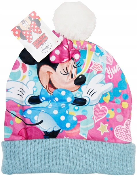 Czapka zimowa Minnie Mouse, dla dziewczynek *52 cm