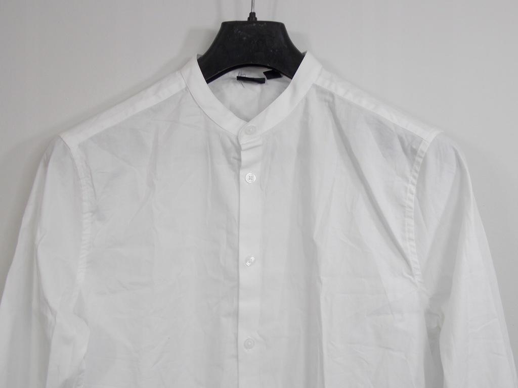 V96 koszula stójka bez kołnierzyka ASOS slim M