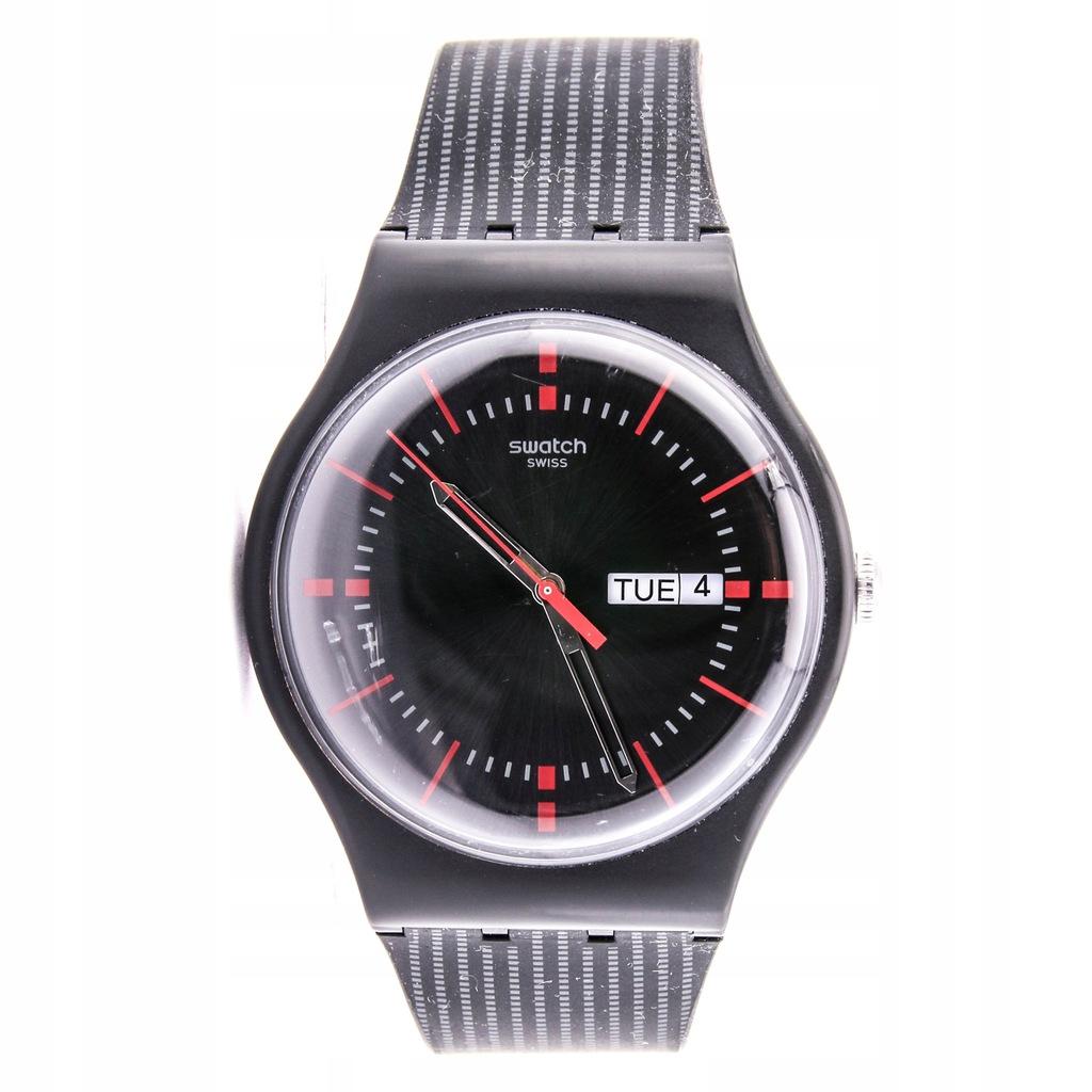 Zegarek SWATCH SUOB714 unisex czarny SWISS MADE