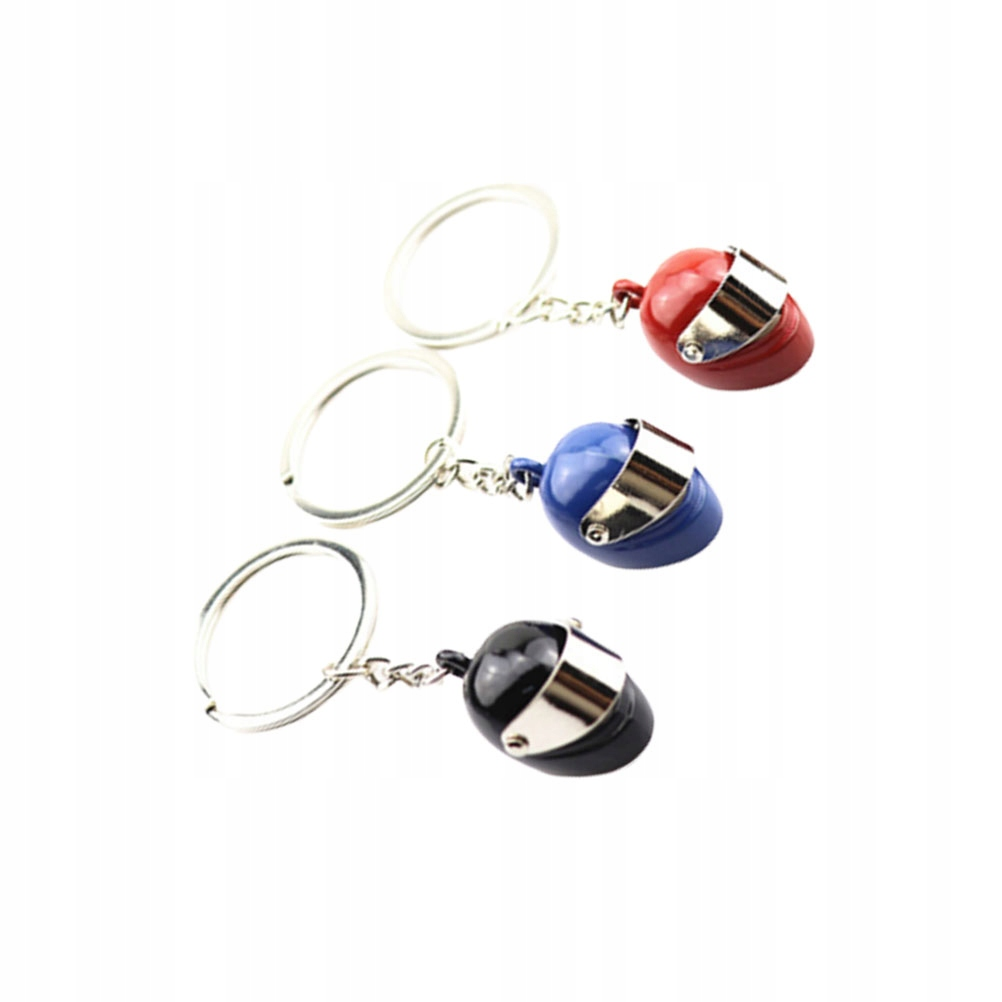 3pcs Motorcycle Helmet Shaped Key Rings Fashion Ke