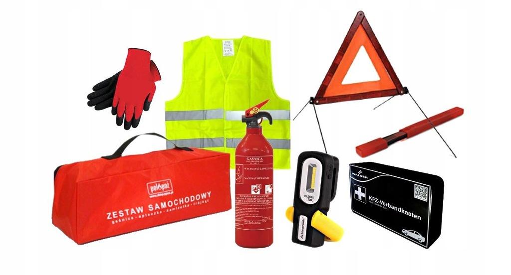 Zestaw samochodowy ECO SAFETY EU + kable rozruch.