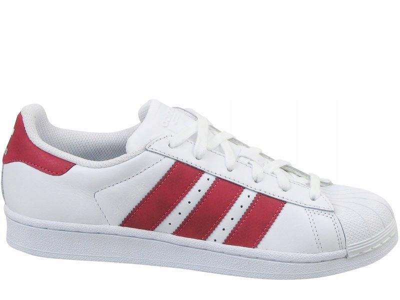 Adidas Buty Superstar CQ2690 biało różowy 38