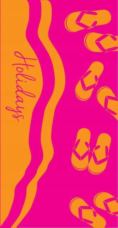 Ręcznik plażowy 70x140 Miramare 13 3969 różowy