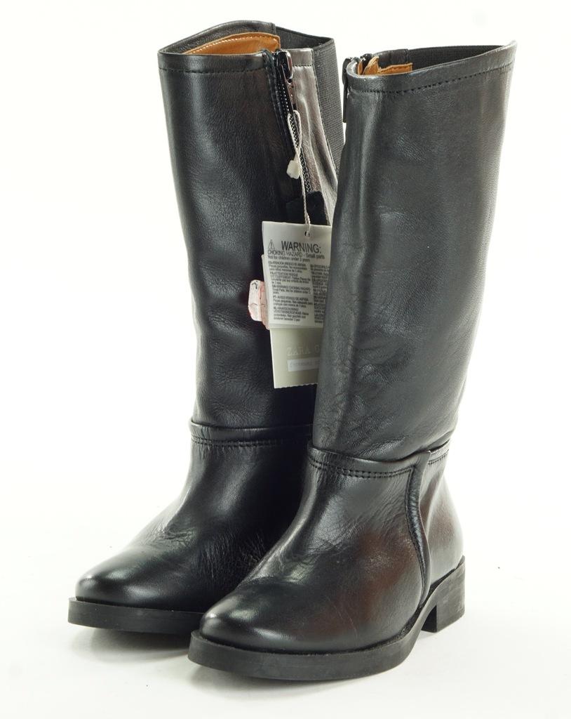 ZARA czarne kozaki z gumką R. 28 DE39 6620/303