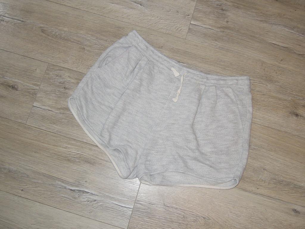 40 42 H&M hm krótkie szare spodnie spodenki