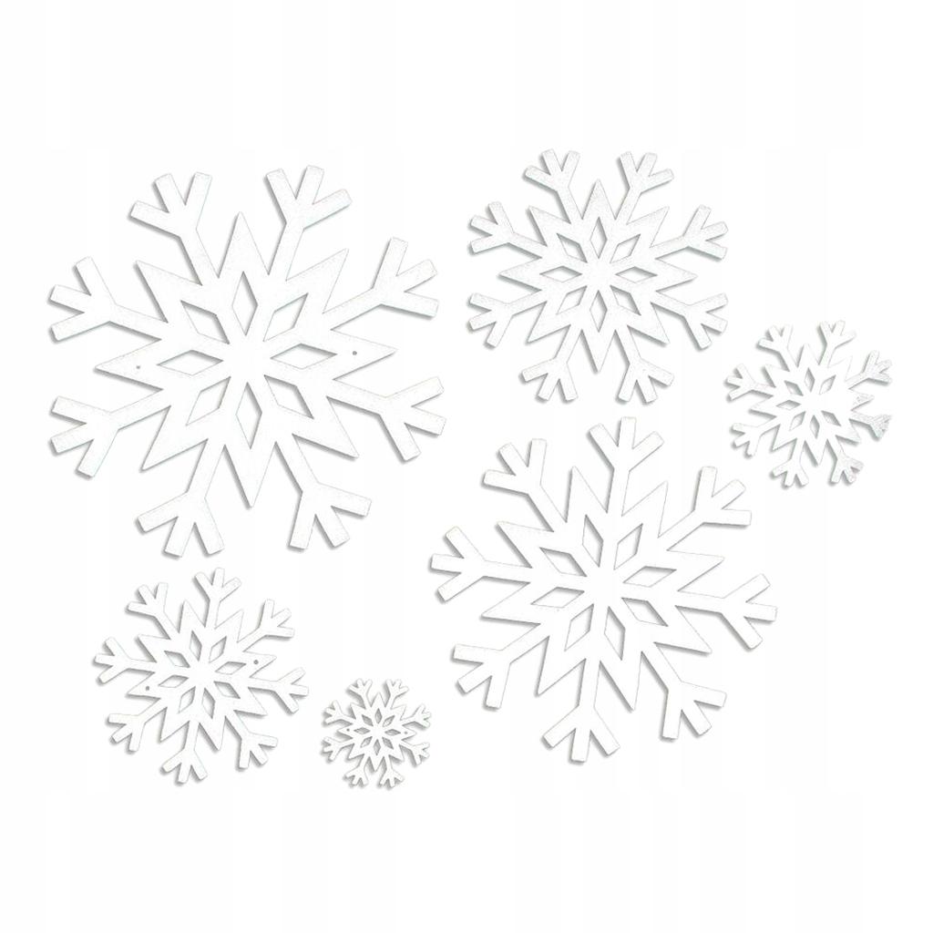 6 sztuk świątecznych płatków śniegu - W przypadku