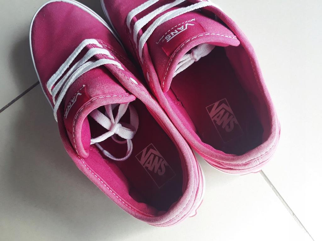Buty Vans różowe damskie rozmiar 35