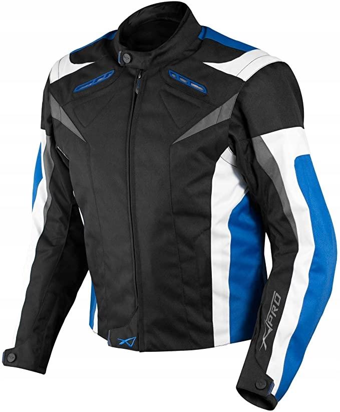 Kurtka motocyklowa A-Pro,ochraniacze ,niebieska,XL