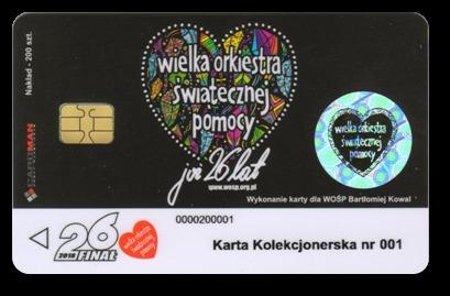 Karta telefoniczna chipowa 001 -  kolekcjonerska