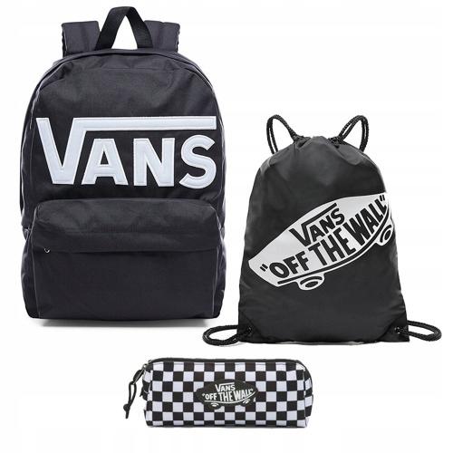 Zestaw plecak Vans worek piórnik Old Skool III Black White