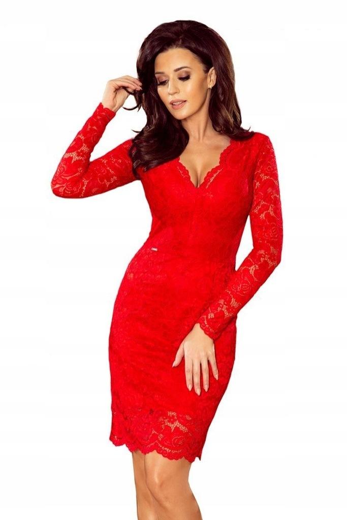170-6 Sukienka koronkowa z długim rękawkiem i DEKO