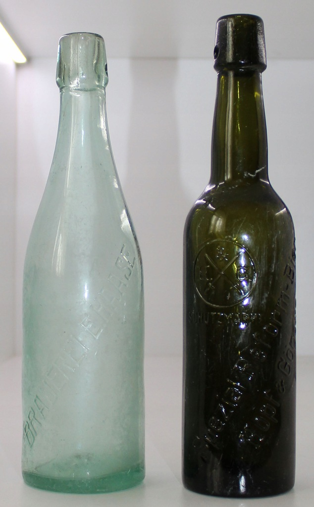 Butelki piwne Breslau 2 szt. Haase, Hopf