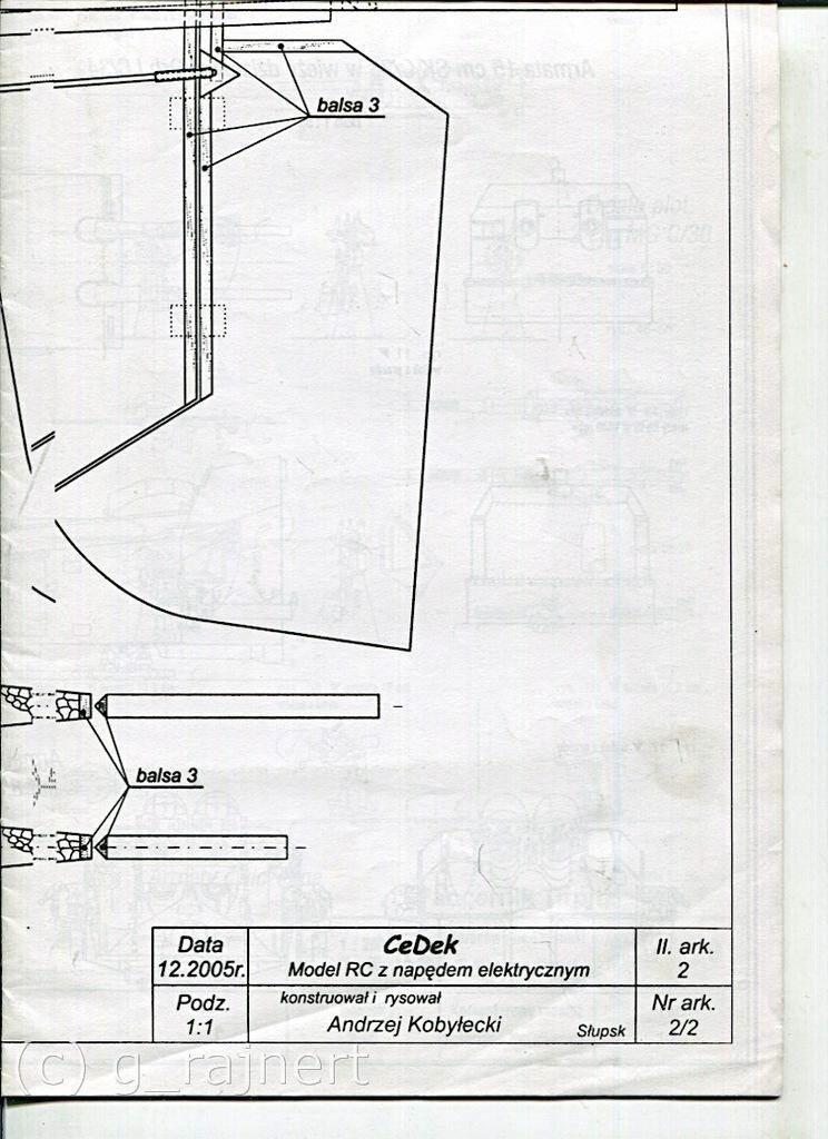 Modelarz 10/2008 Tirpitz, RC Cedek wkładka