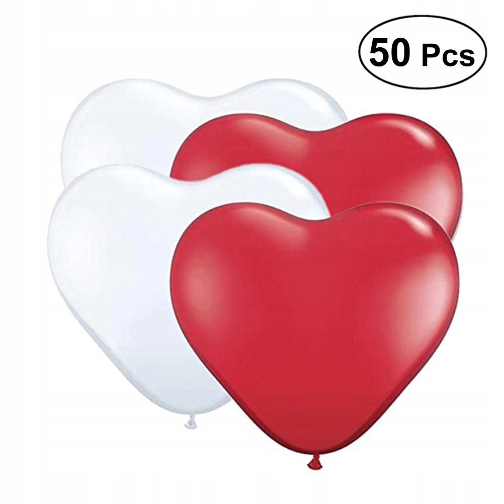 50 szt. Balony lateksowe serce Kreatywne balony im