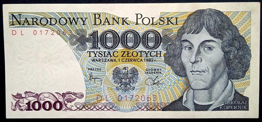 1000 zł 1982 DL