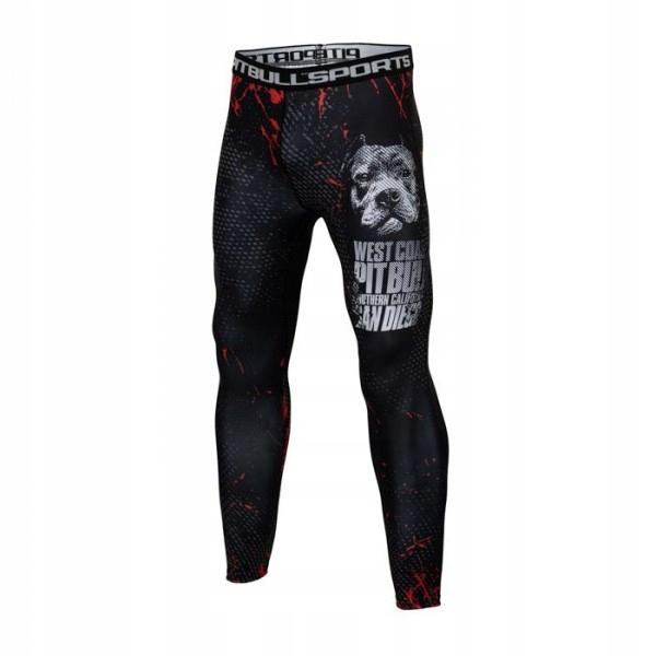 Leginsy kompresyjne PIT BULL Blood Dog MMA r.XL