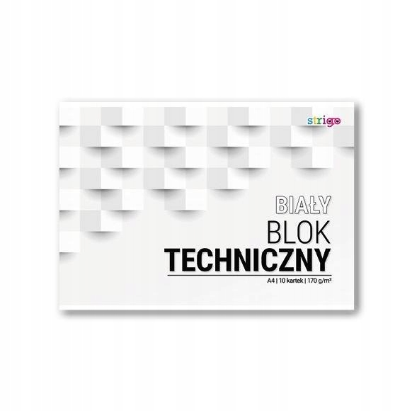 Blok techniczny biały A4/10K (10szt) STRIGO