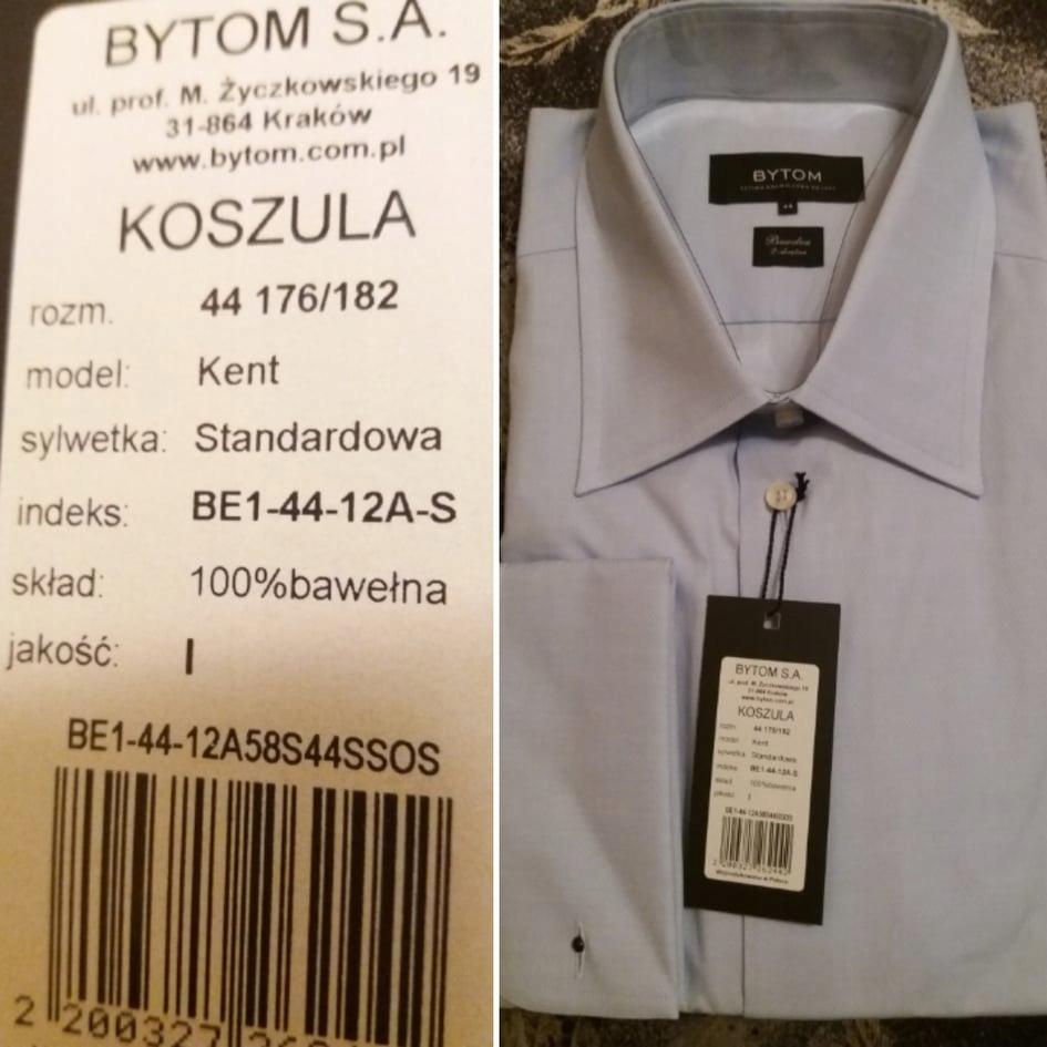 Koszula Bytom 176182 44 na spinki 7596371959 oficjalne  mhzfk