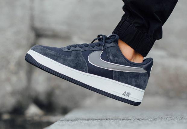 Buty Męskie Nike Air Force 1 Low 488298 433 Navy Blue, NIKE