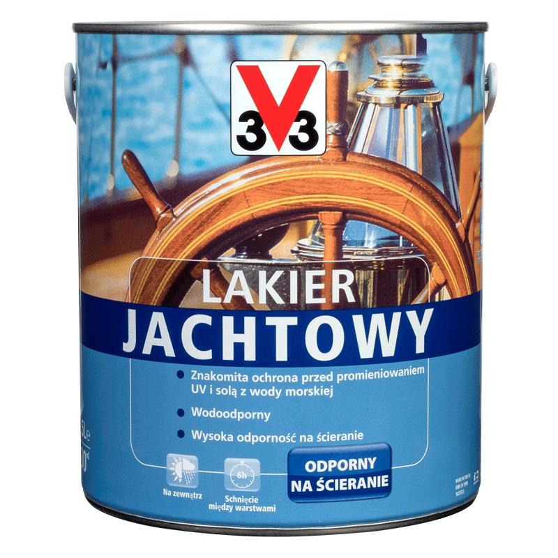 V33 Lakier Jachtowy Wodoodporny Bursztyn 2,5L