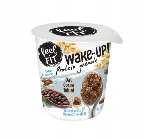 feel FIT WAKE-UP PROTEIN Granola owies, kakao