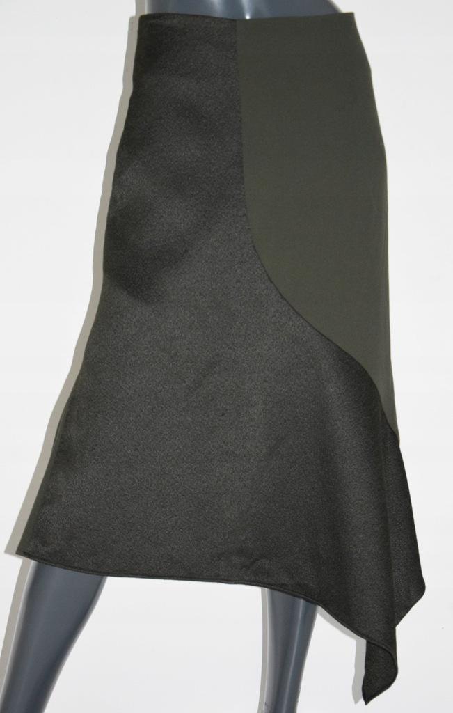 cos zielona spódnica khaki asymetria 36/38 M