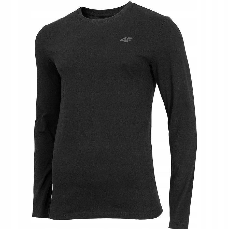 Koszulka Męska z długim rękawem 4F czarna XXL