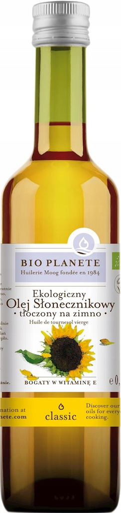 Bio Planete Olej Słonecznikowy Virgin BIO 500ML