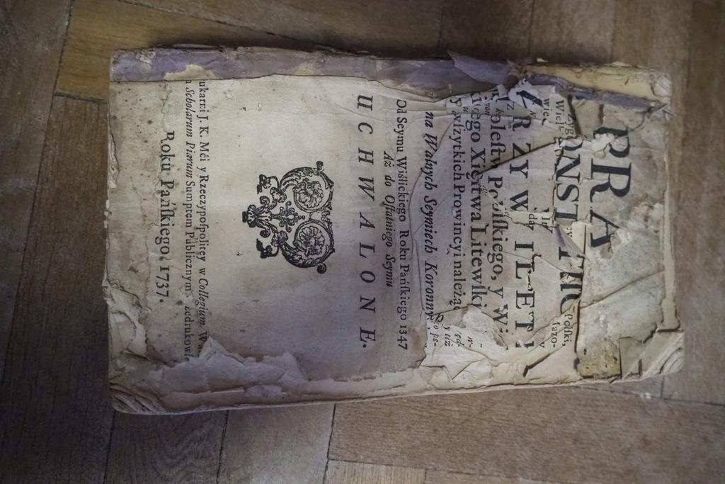 PRAWA KONSTYTUCYJNE I PRZYWILEJE 1737 RARYTAS