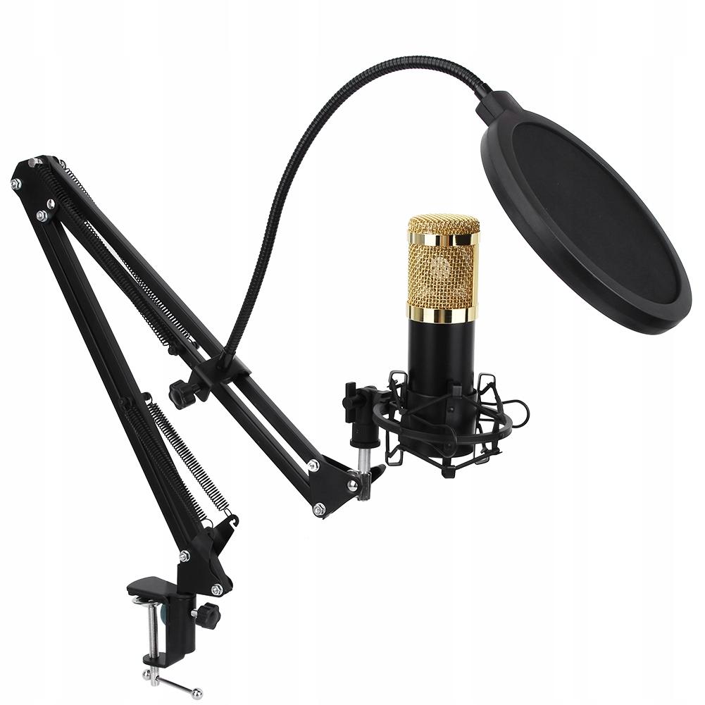 Black Mikrofon +ZESTAW pojemnościowy