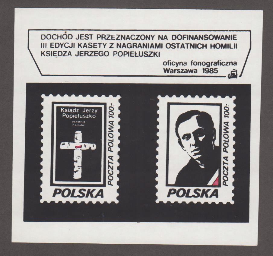 SOLIDARNOŚĆ - BLOK CEGIEŁKA - KS. POPIEŁUSZKO '85