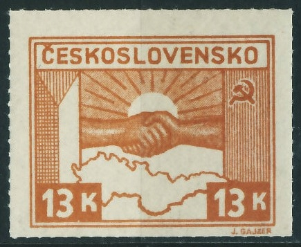 Czechosłowacja 13 Kc. - Mapa Przyjaźń z ZSRR
