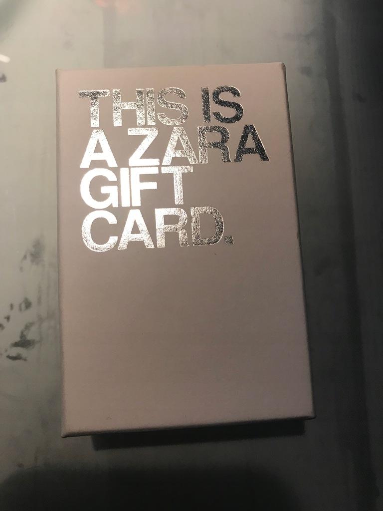 Karta podarunkowa Zara