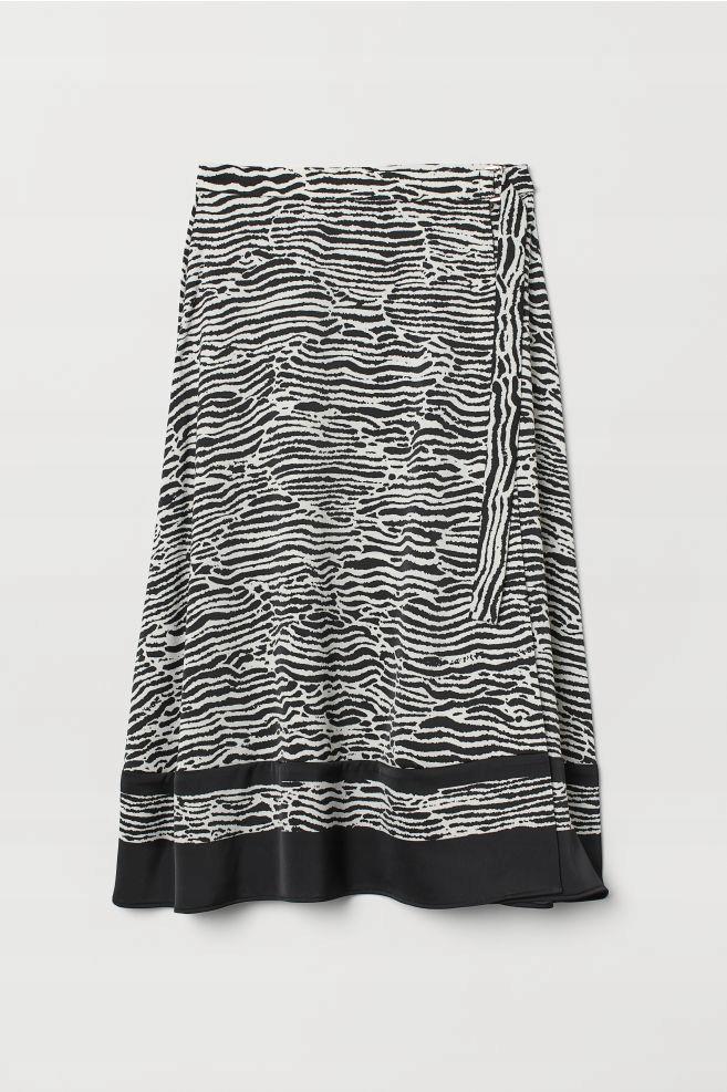 H&M SPÓDNICA BLACK END WHITE R. 38/M S.IDEALNY