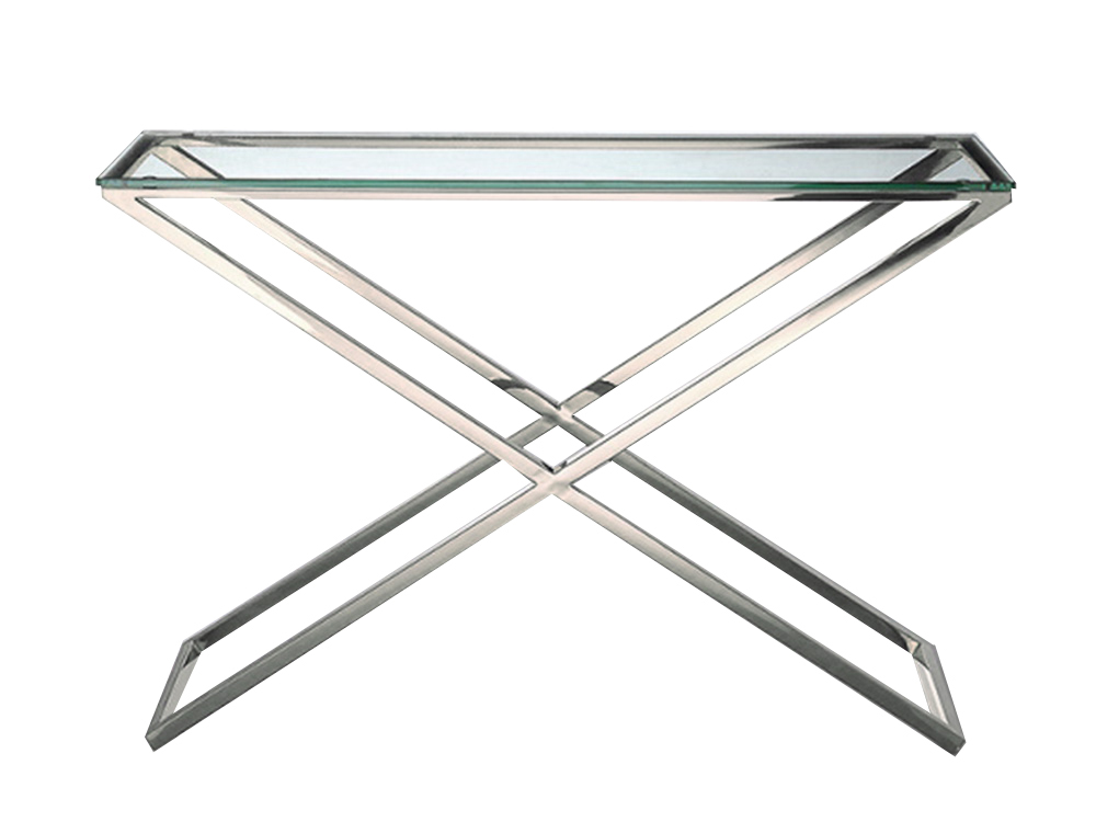 KONSOLA GG-1006 120x40x80cm SREBRNA szkło