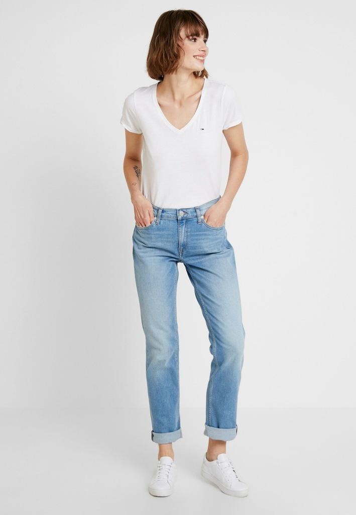 Tommy Jeans T-shirt damski biały defekt 32 (XXS)