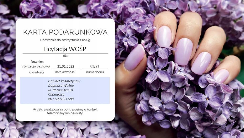 Karta podarunkowa- paznokcie - aukcja sztabu 6137