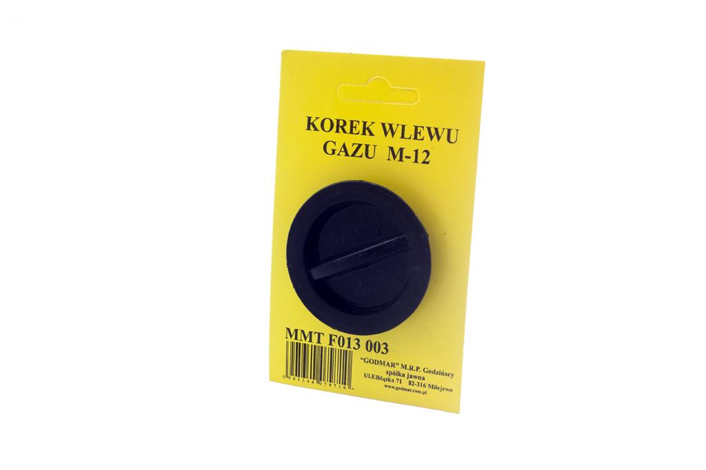 KOREK ZAŚLEPKA WLEWU GAZU ZATYCZKA 12mm LPG M12