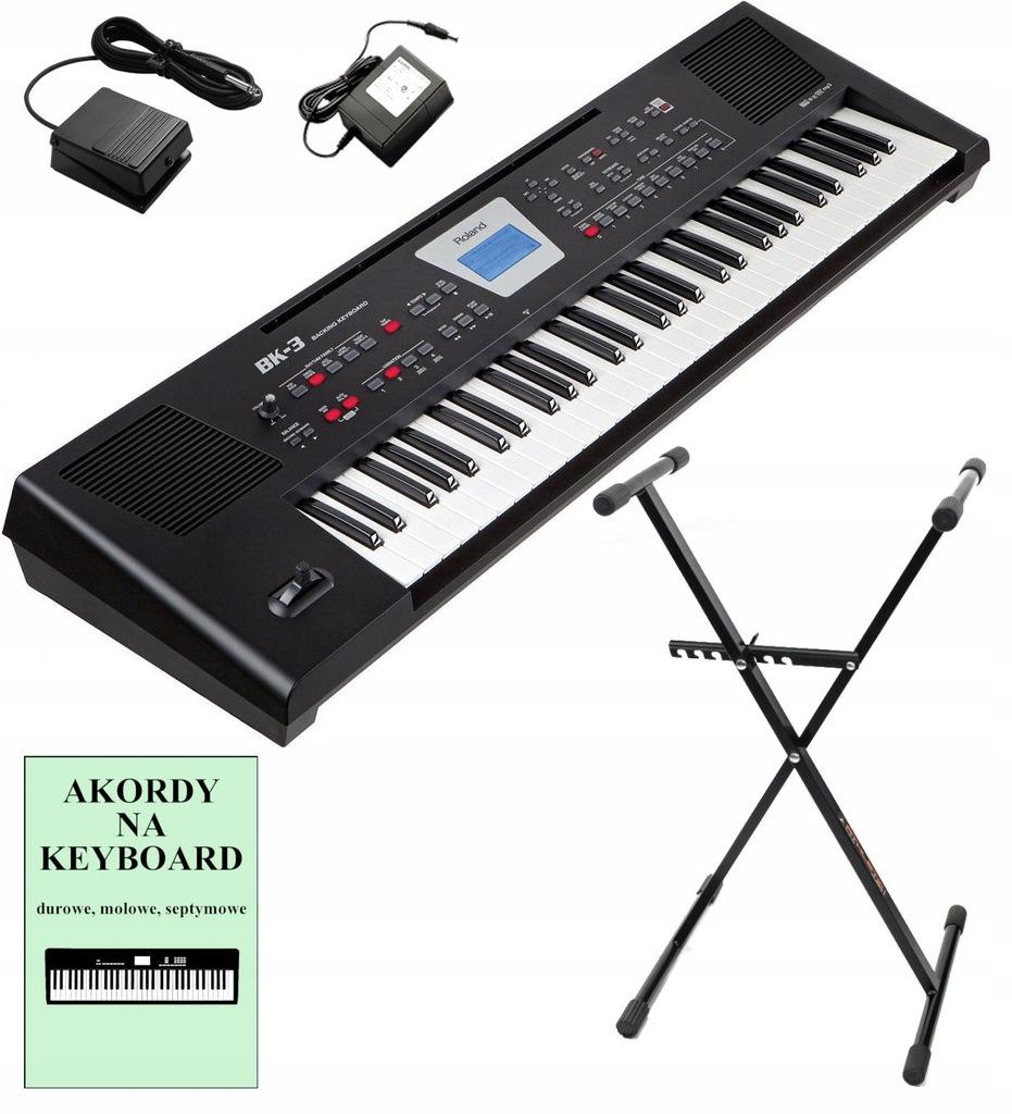ROLAND BK-3 Keyboard-MP3/MIDI + Pedał + Statyw