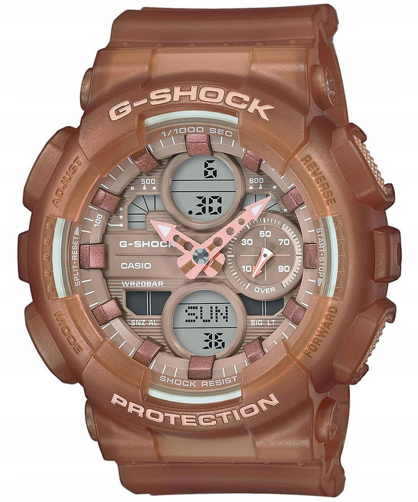 Zegarek Casio G-SHOCK GMA-S140NC-5A2ER Stoper LED