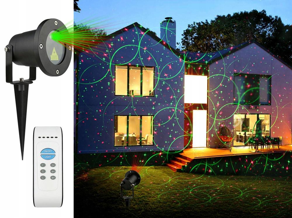 Laser ogrodowy projektor laserowy 2 kolory 8 w1