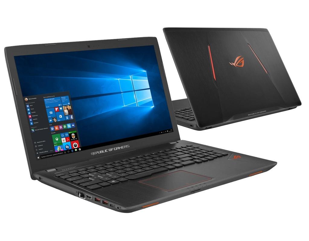 ASUS GL553VE i7-7700HQ 16GB 240SSD GTX1050Ti Win10
